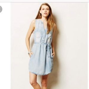 Anthropologie Chambray Dress